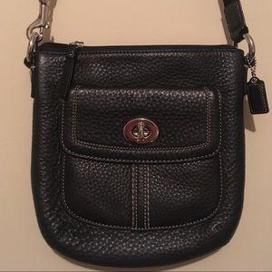 COACH Black Leather Cross-body Bag, Like New :)!!!